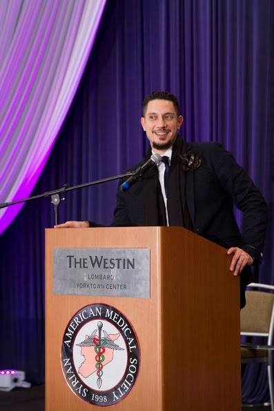 Omar Offendum, the MC at the event